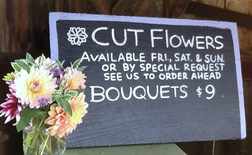 Bouquet and Cut Flower Sign