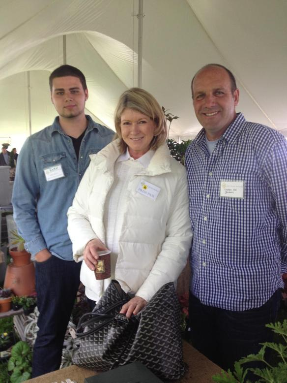 Evan Fritz, Jerry Fritz and Martha Stewart at Trade Secrets Garden Show May 2013