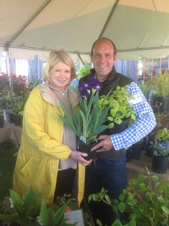 Jerry Fritz and Martha Stewart at Trade Secrets Garden Show May 2014