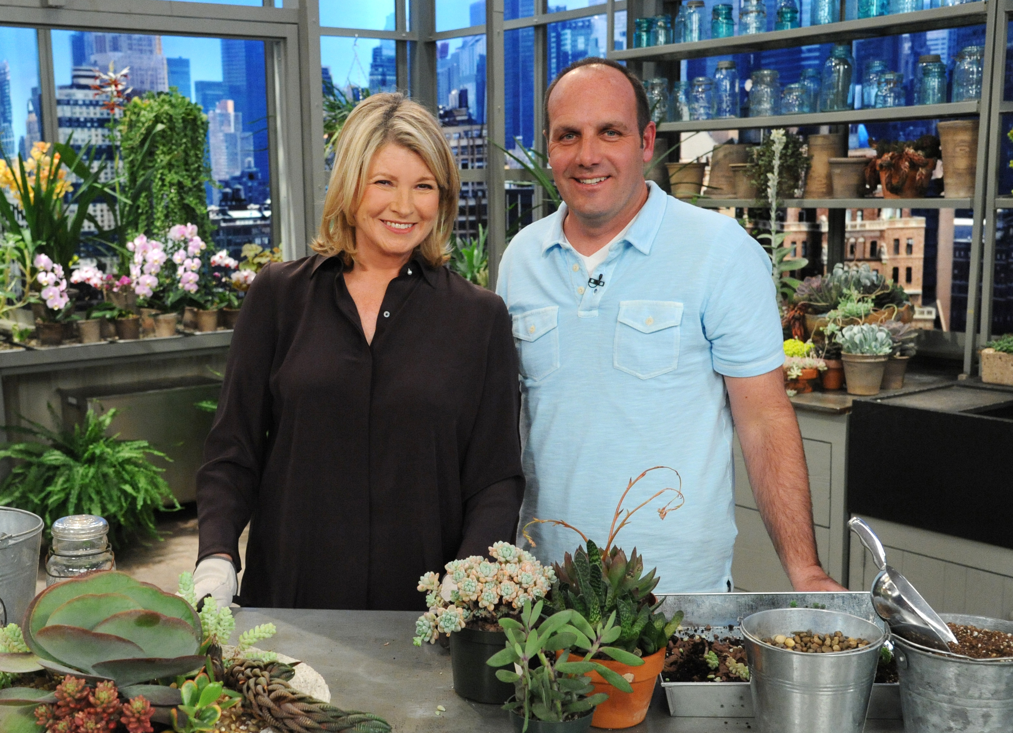 Martha Stewart and  Jerry Fritz on the Martha Stewart Show