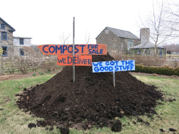 compost with signs