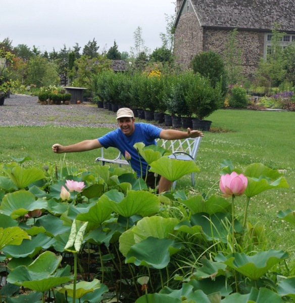 Jerry with the lotuses